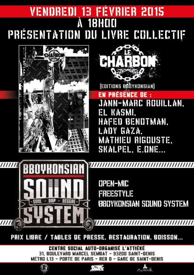 Présentation du livre 'Le charbon' + BBoyKonsian Sound System à Saint-Denis le 13 février 2015