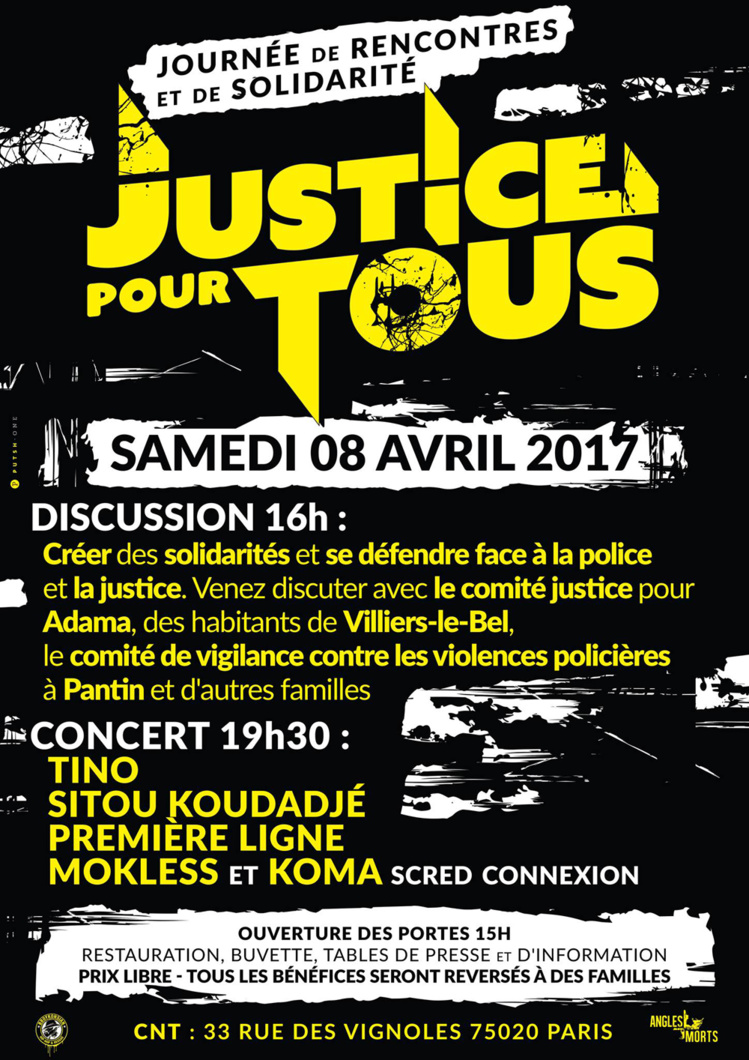 """""""Justice pour tous : Journée de rencontres et de solidarité"""" le 08 avril 2017 à Paris"""