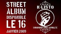 Le Street CD de K-Listo disponible le 16 janvier 2009