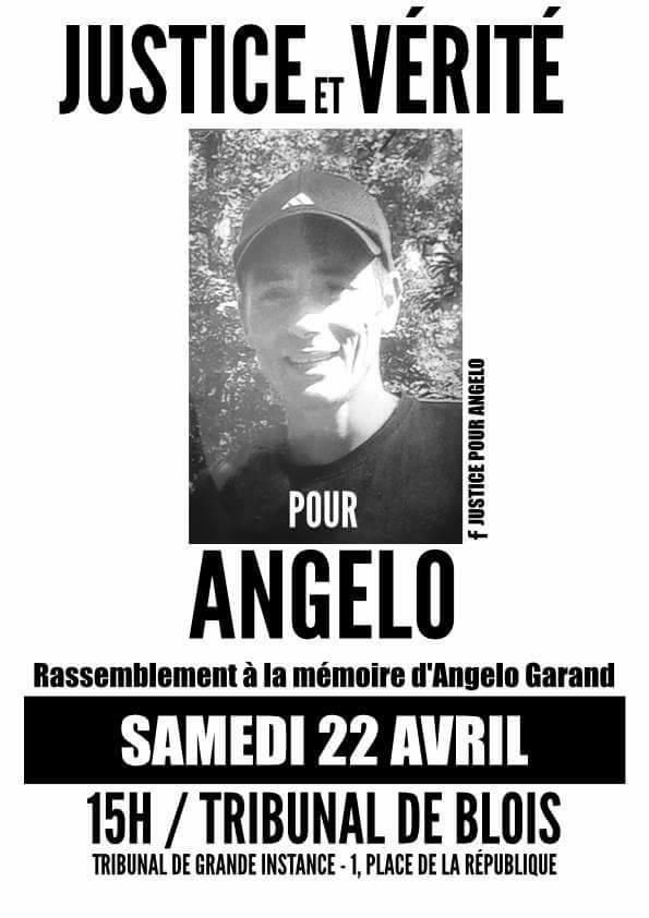 Rassemblement à la mémoire d'Angelo Garand le 22 avril 2017 à Blois