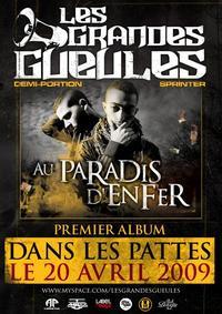 L'album des Grandes Gueules 'Au paradis d'enfer' dans les bacs le 20 avril 2009