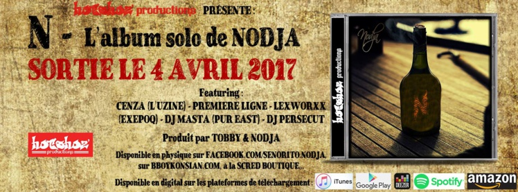 "Nouvel album de Nodja ""N"" disponible en CD et Digital"
