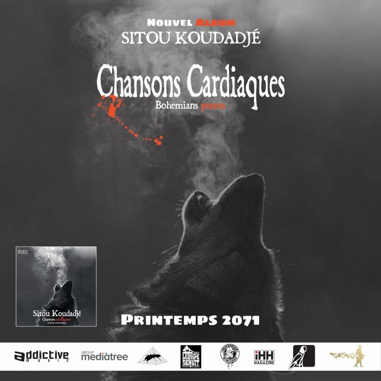 """Nouvel album de Sitou Koudadjé """"Chansons cardiaques"""" disponible le 26 mai 2017"""