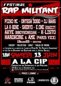 Festival 'Rap Militant' à Paris le 13 juin 2009