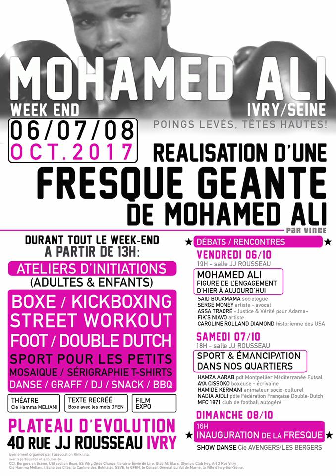 """Week-end Mohamed Ali"" du 06 au 08 octobre 2017 à Ivry-sur-Seine"