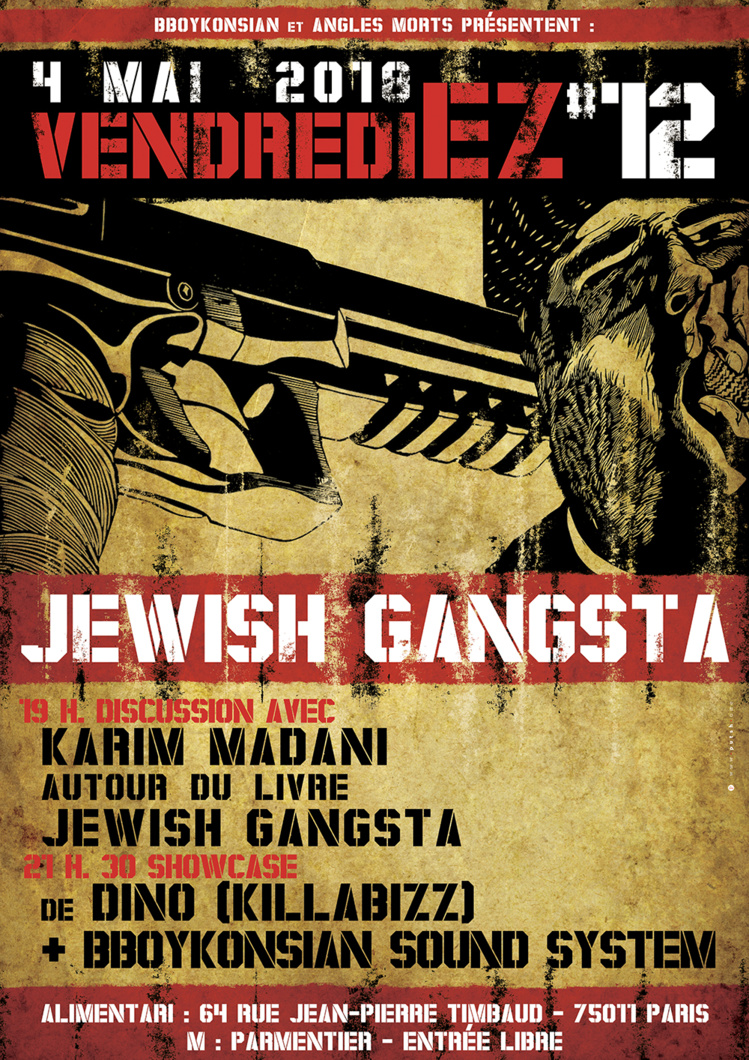 """VendrediEZ #12 : Jewish gangsta"" le 4 mai 2018 à Paris"