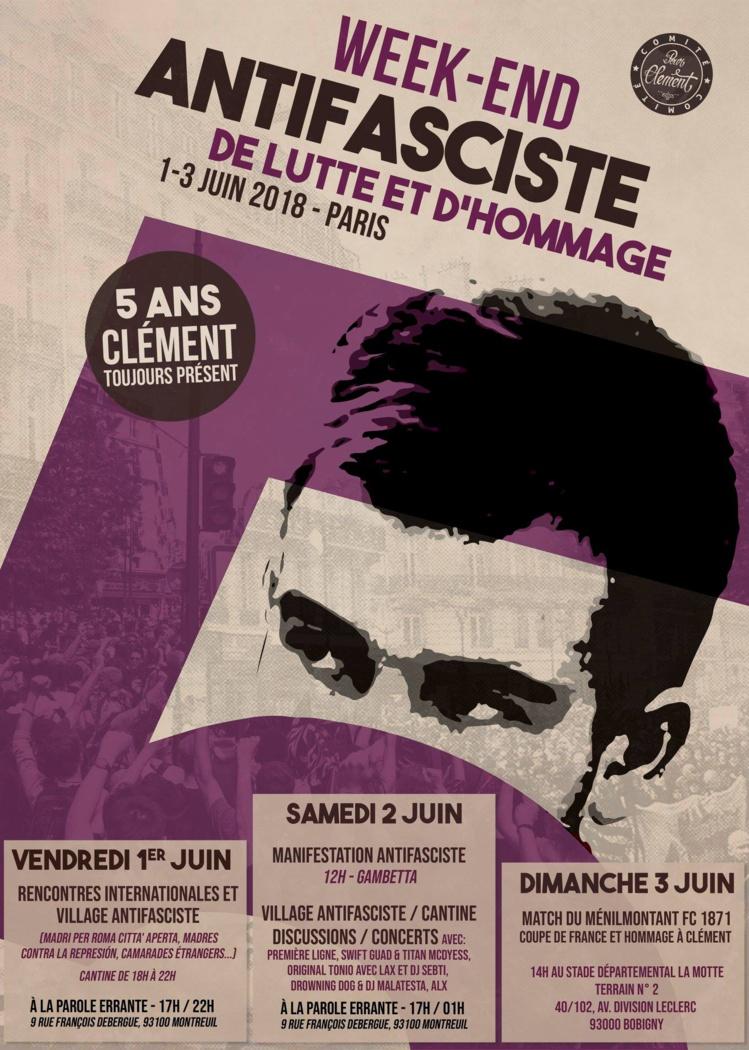 Week-end antifasciste de lutte et d'hommage du 1er au 3 juin à Paris