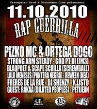 Sortie de 'Rap guerrilla' de Pizko Mc & Ortega DOGO le 11 octobre 2010