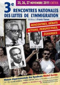 3ème rencontre nationale des luttes de l'immigration à Créteil les 25, 26 et 27 novembre 2011