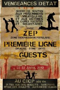 'Vengeances d'état': Soirée de soutien aux prisonniers de Villiers-le-Bel et aux victimes de crimes racistes et sécuritaires à Paris le 22 avril 2012