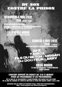 'Du son contre la prison' les 4 et 5 mai 2012 à Saint-Etienne