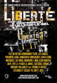 La compilation 'Liberté pour les prisonniers de Villiers-le-Bel' disponible en CD et Digital