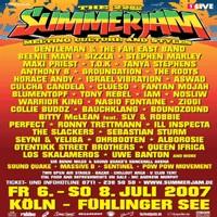 Programme du Festival 'Summerjam' 2007