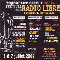 Festival de soutien 'FPP: 15 ans de radio libre!' les 5,6 et 7 juillet 2007