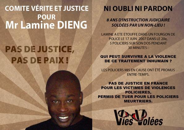 Commémoration pour Lamine Dieng, 8 ans déjà...