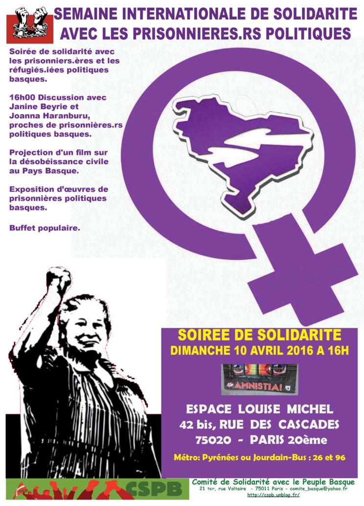 Semaine internationale de solidarité avec les prisonniers politiques du 9 au 17 avril 2016