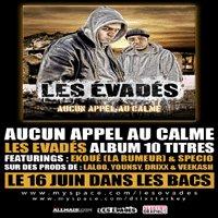 Les Evadés 'Aucun appel au calme', album 10 titres dans les bacs le 16 juin 2008