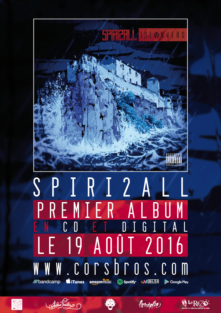 Sortie du premier album de Spiri2all 'Islanders' le 19 août 2016