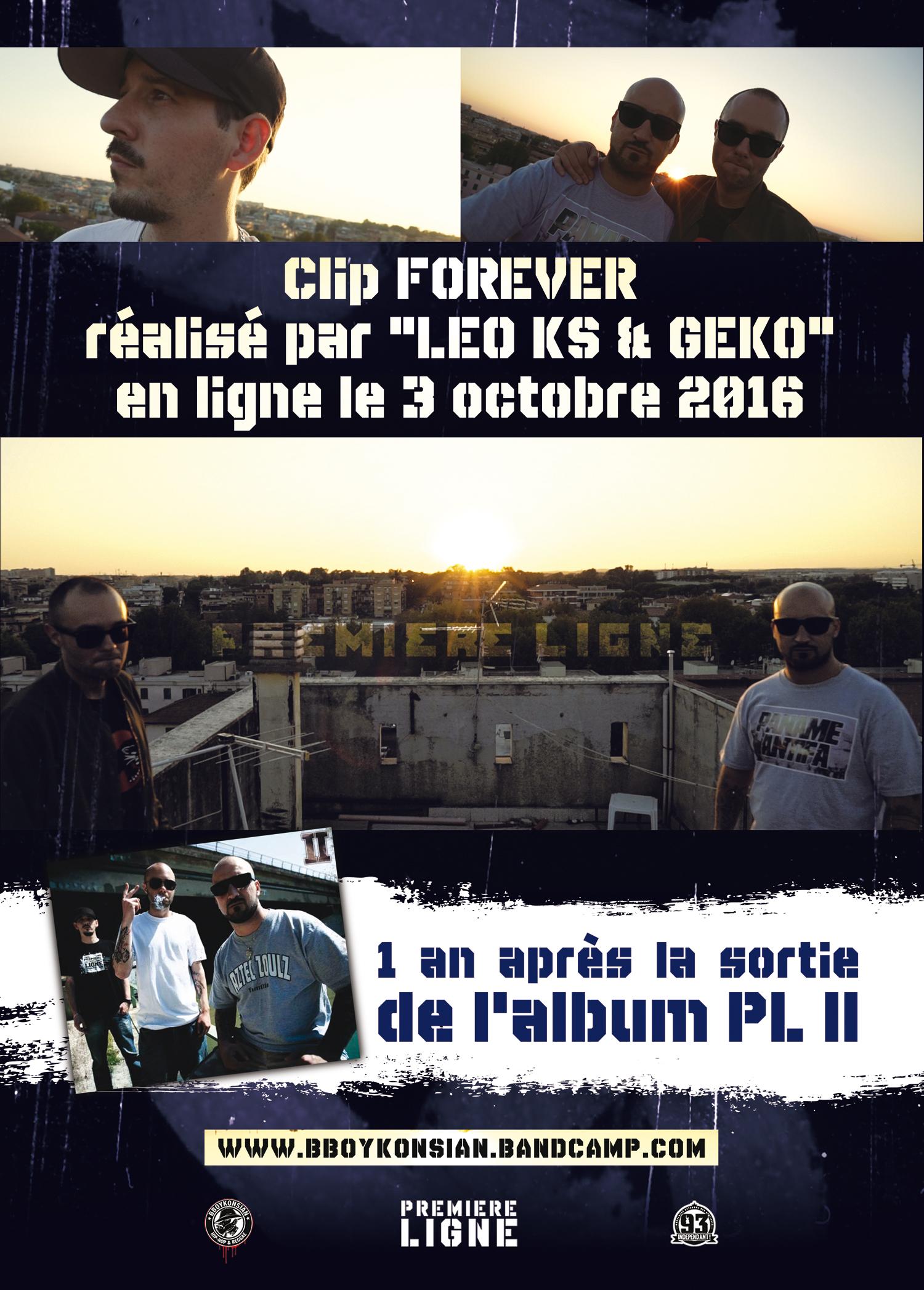 Sortie du clip 'Forever' de Première Ligne le 3 octobre 2016