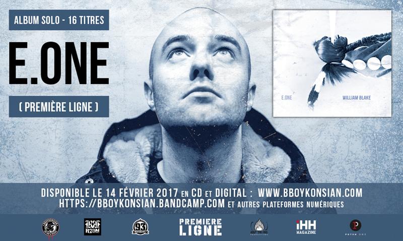 Sortie de l'album 'William Blake' de E.One (Première Ligne) en CD & Digital le 14 février 2017