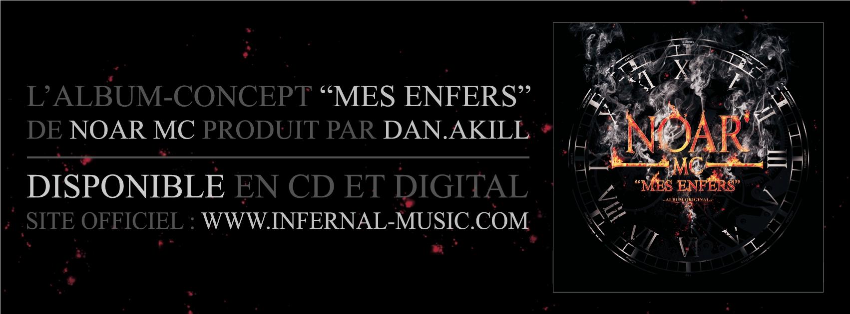 """""""Mes enfers"""", l'album concept de Noar Mc disponible en CD & Digital"""