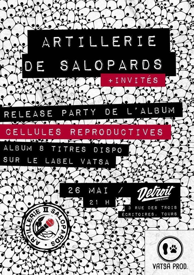 """Premier album d'Artillerie de Salopards """"Cellules reproductives"""" disponible le 26 mai 2017"""