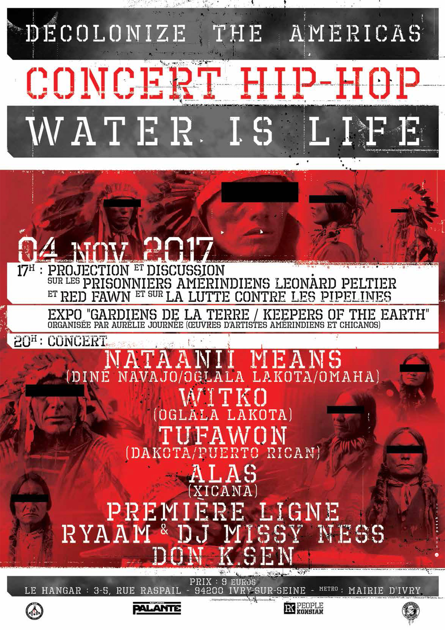"""Tournée européenne """"Decolonize America ! Water is Life Tour"""" en octobre et novembre 2017"""