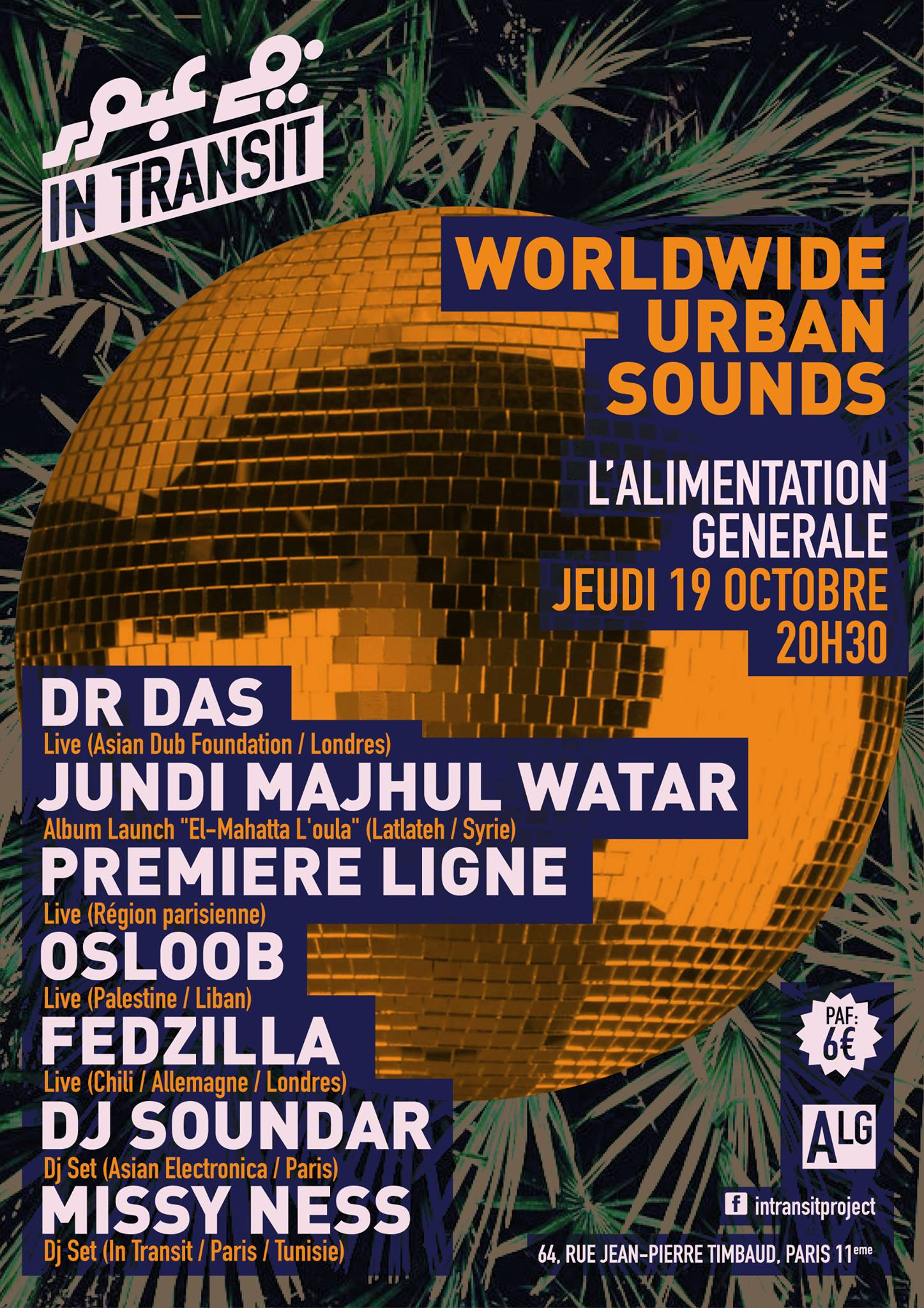 "Soirée ""In Transit #5 [Worldwide Urban Sounds]"" le 19 octobre 2017 à Paris"