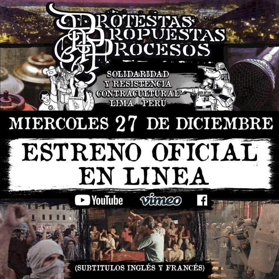 """Sortie en ligne du documentaire """"Protestas, propuestas y procesos"""""""