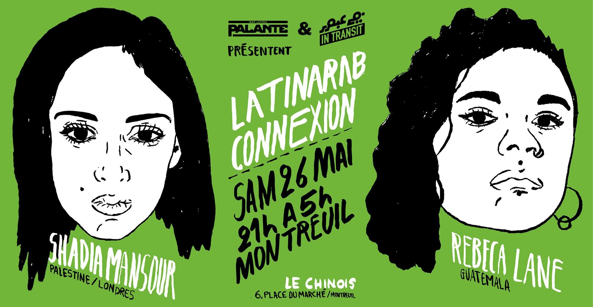 "Soirée ""LatinArab Connexion"" avec Shadia Mansour & Rebeca Lane le 26 mai 2018"