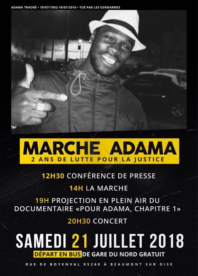 """""""Marche Adama - 2 ans de lutte pour la justice"""" le 21 juillet 2018 à Beaumont-sur-Oise"""