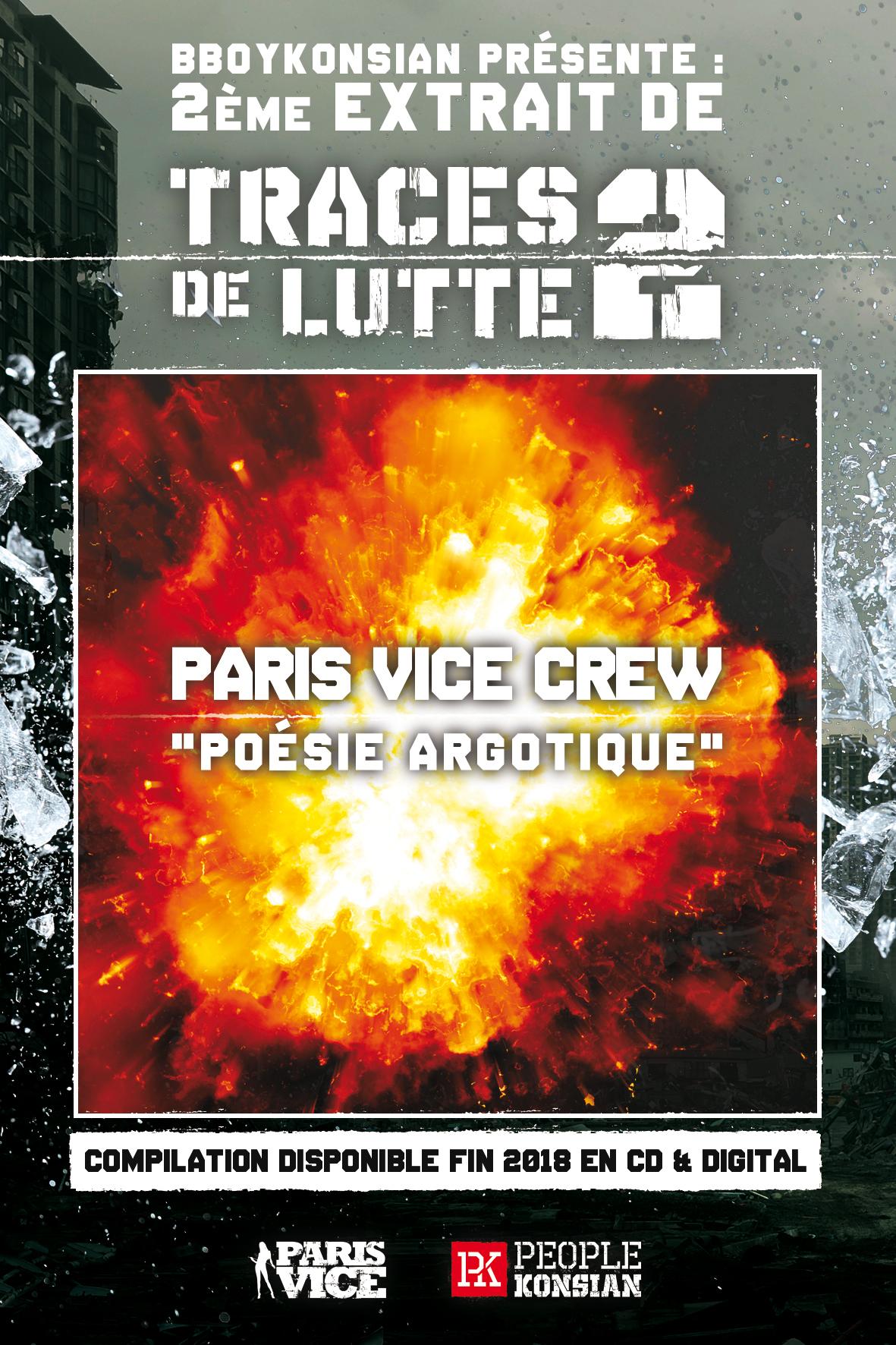 """2ème extrait de la compilation """"Traces de lutte 2"""" : Paris Vice Crew """"Poésie argotique"""""""