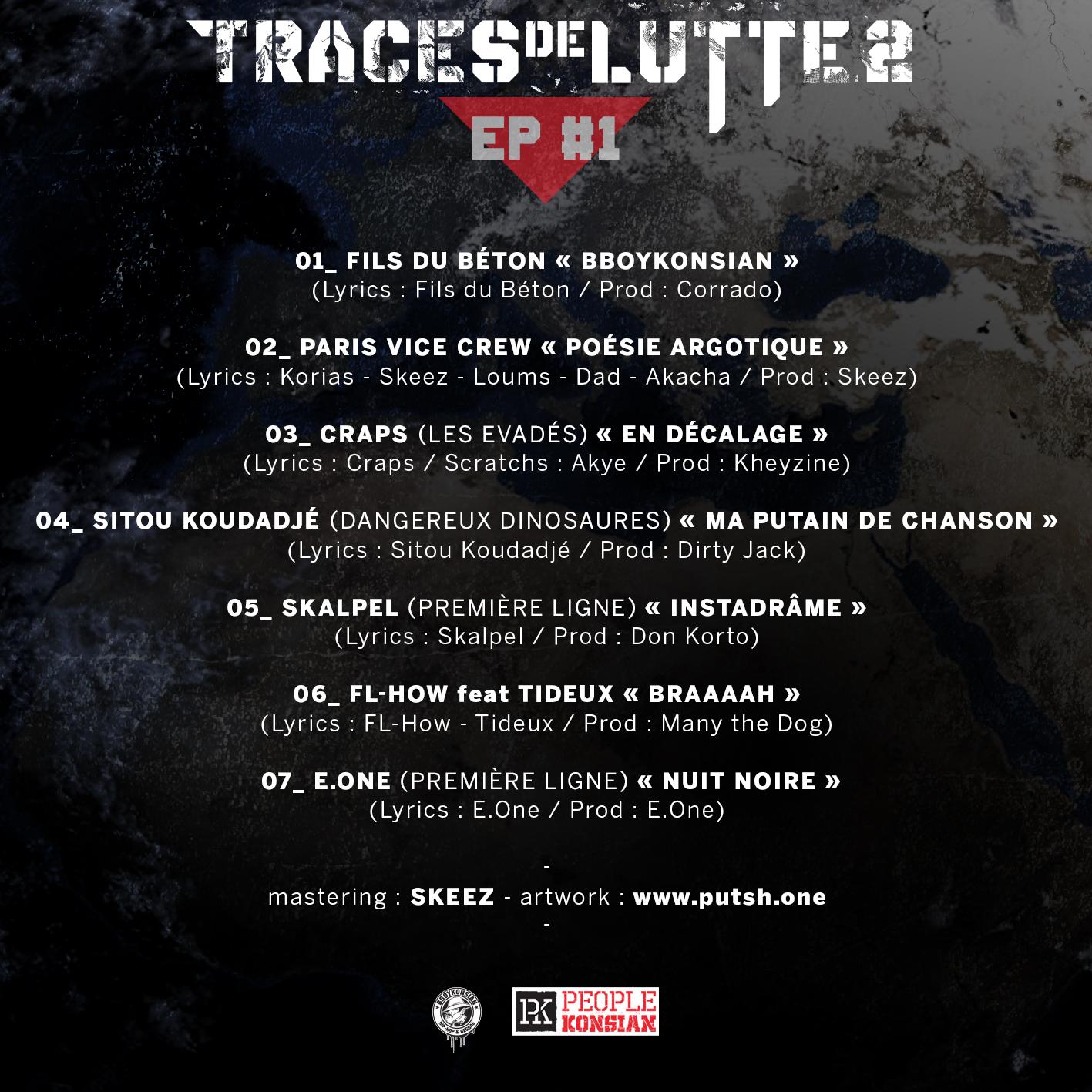 """Sortie de """"Traces de lutte 2 - EP #1"""" en Digital à prix libre"""