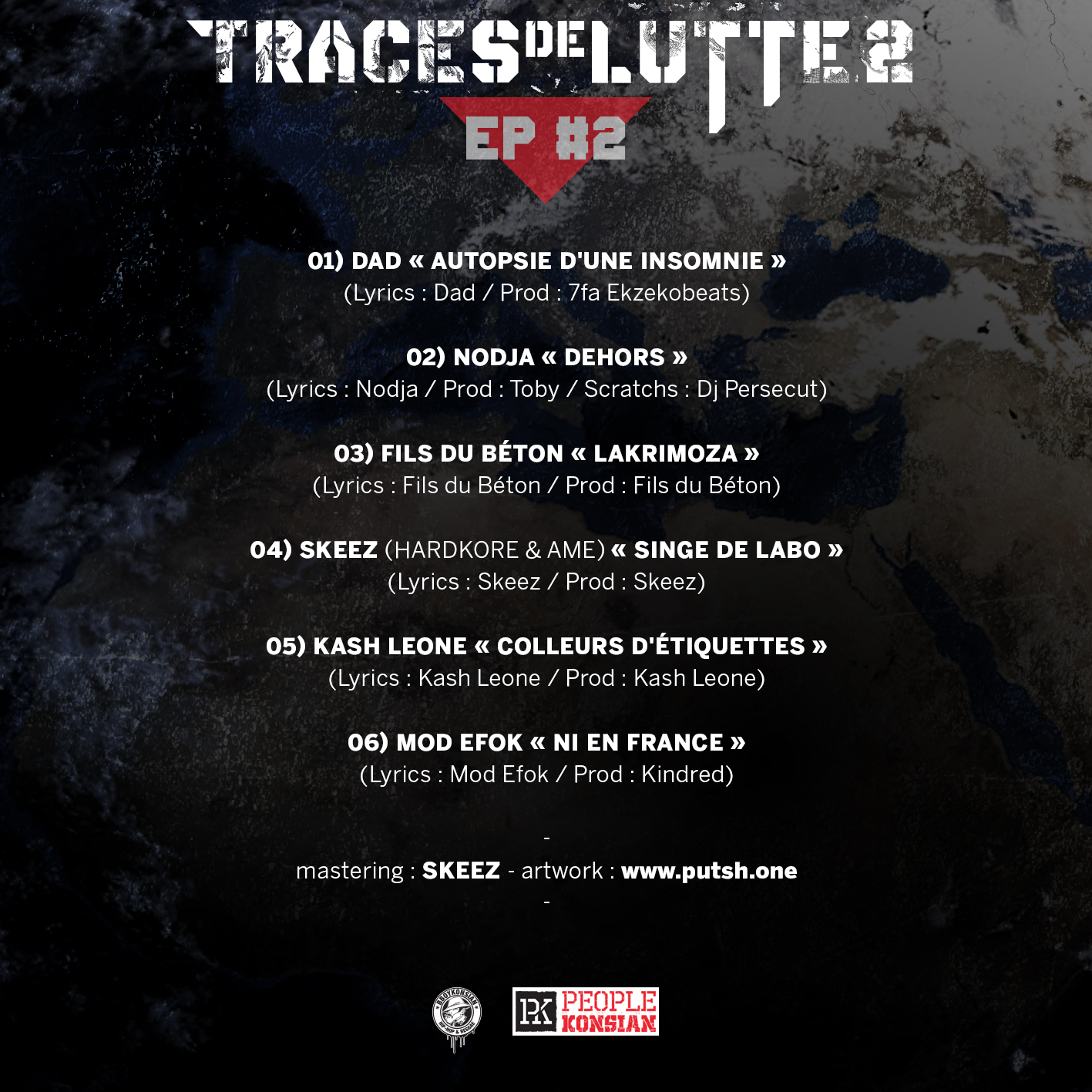 """Sortie de """"Traces de lutte 2 - EP #2"""" en Digital à prix libre"""