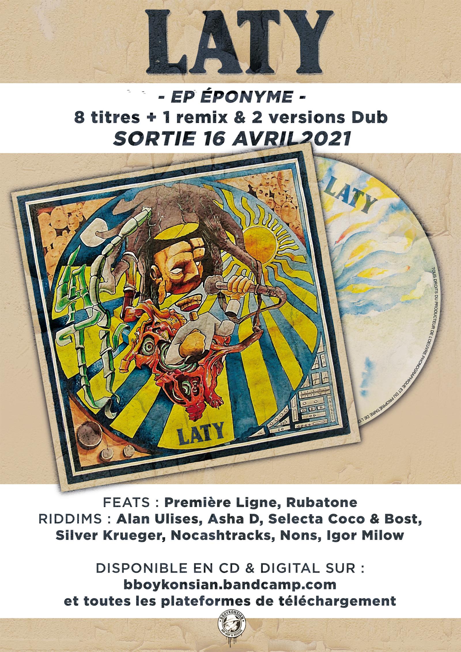 Sortie du EP éponyme de Laty en CD & Digital le 16 avril 2021