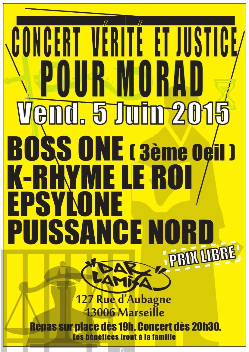 Concert Vérité et Justice pour Morad le 05 juin 2015 à Marseille
