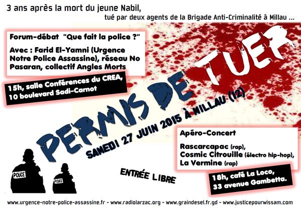 Journée 'Permis de tuer' le 27 juin 2015 à Millau