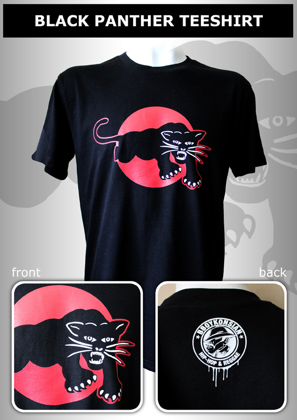 "T-shirt ""Black Panther"" Noir"