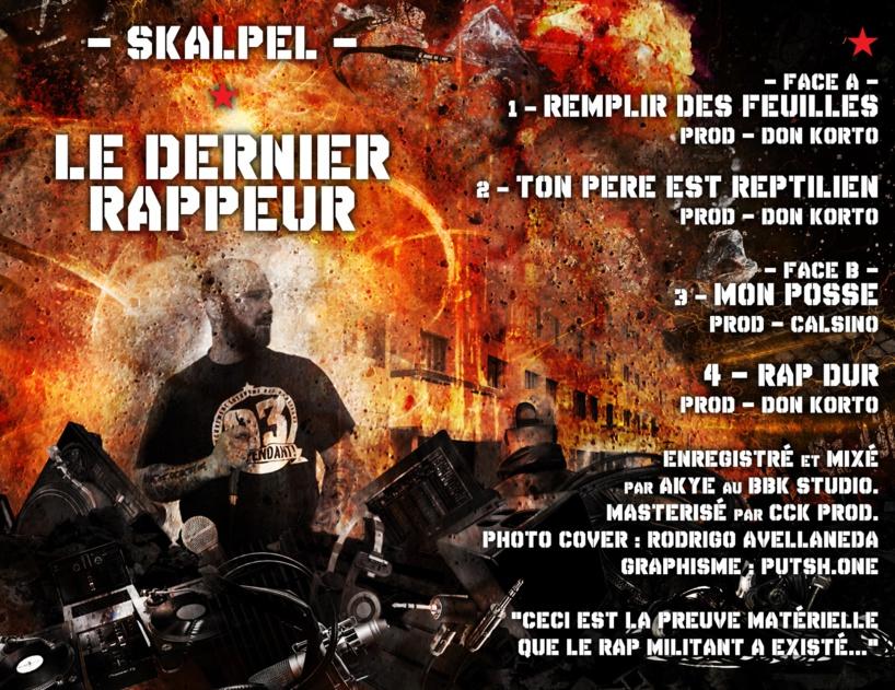 """Sortie de la K7 collector de Skalpel """"Le dernier rappeur"""" le 09 octobre 2018"""