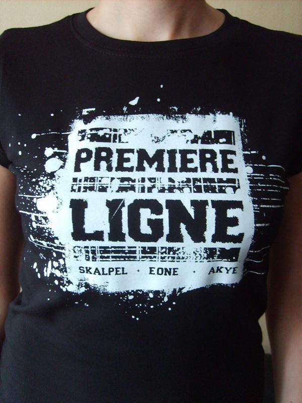 T-shirt 'Première Ligne' Noir (Femme)