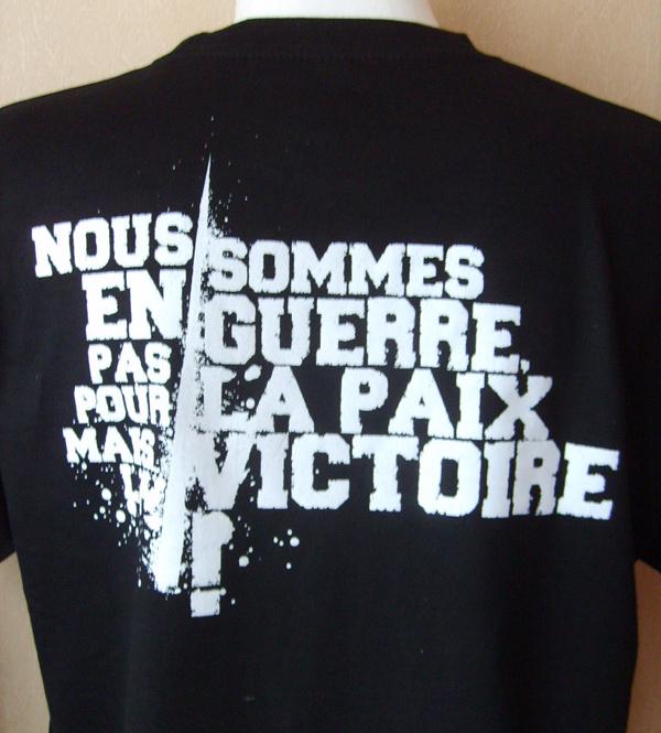 """T-shirt """"Première Ligne"""" Noir (Homme)"""