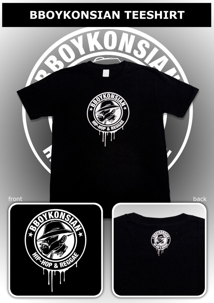 "T-shirt ""BBoyKonsian"" Noir (Homme)"