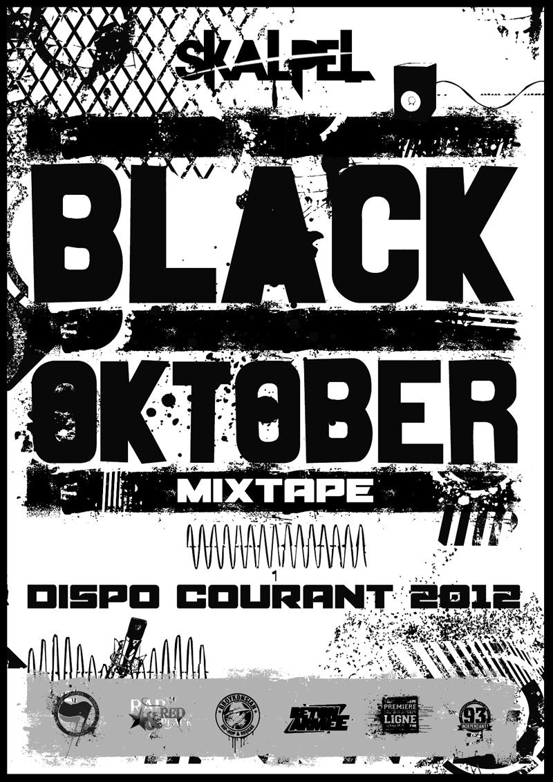 Flyer de la Mixtape 'Black Oktober'