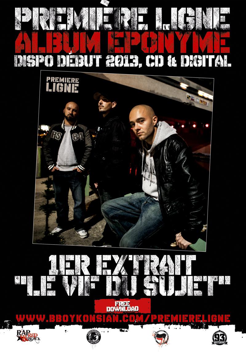 Flyer 'Le vif du sujet', 1er extrait de l'album éponyme de Première Ligne