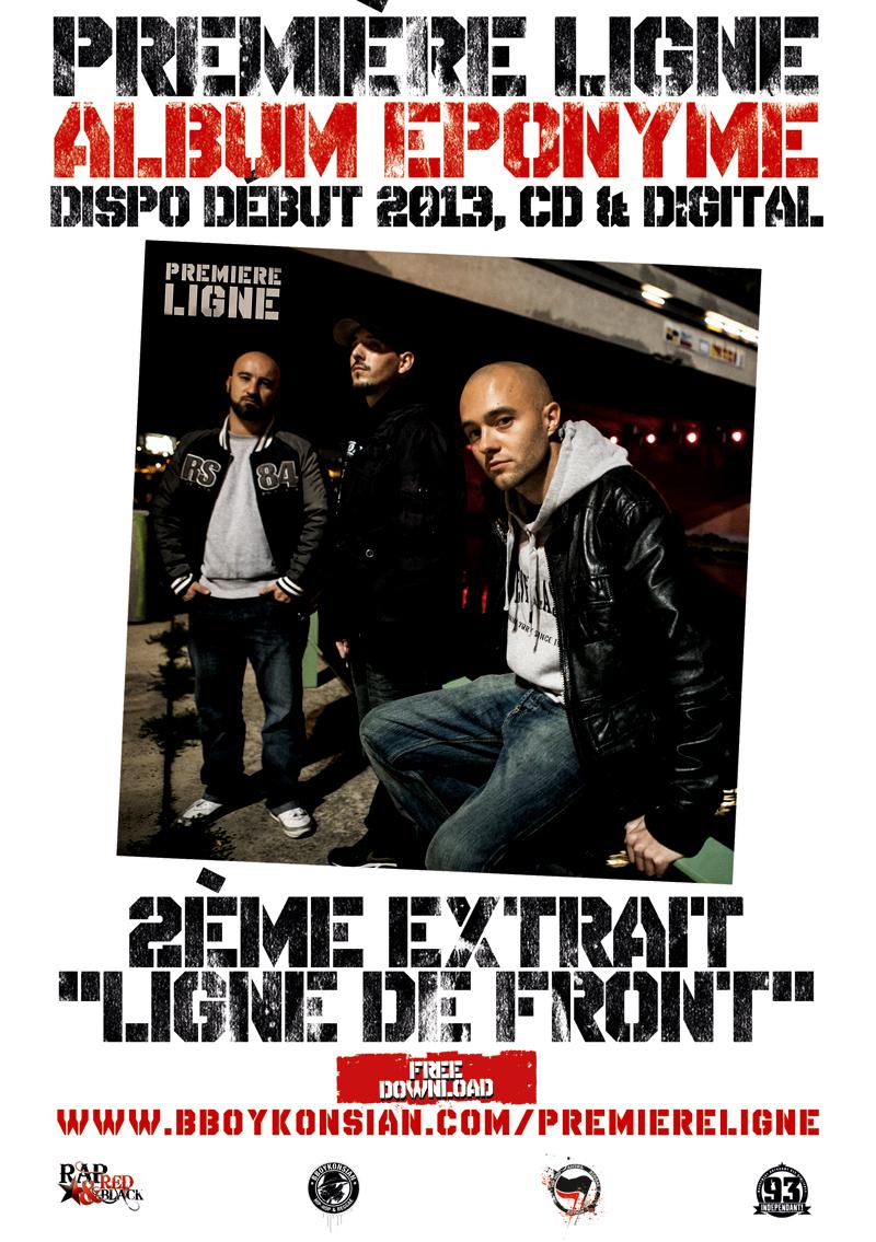 Flyer 'Ligne de front', 2ème extrait de l'album éponyme de Première Ligne