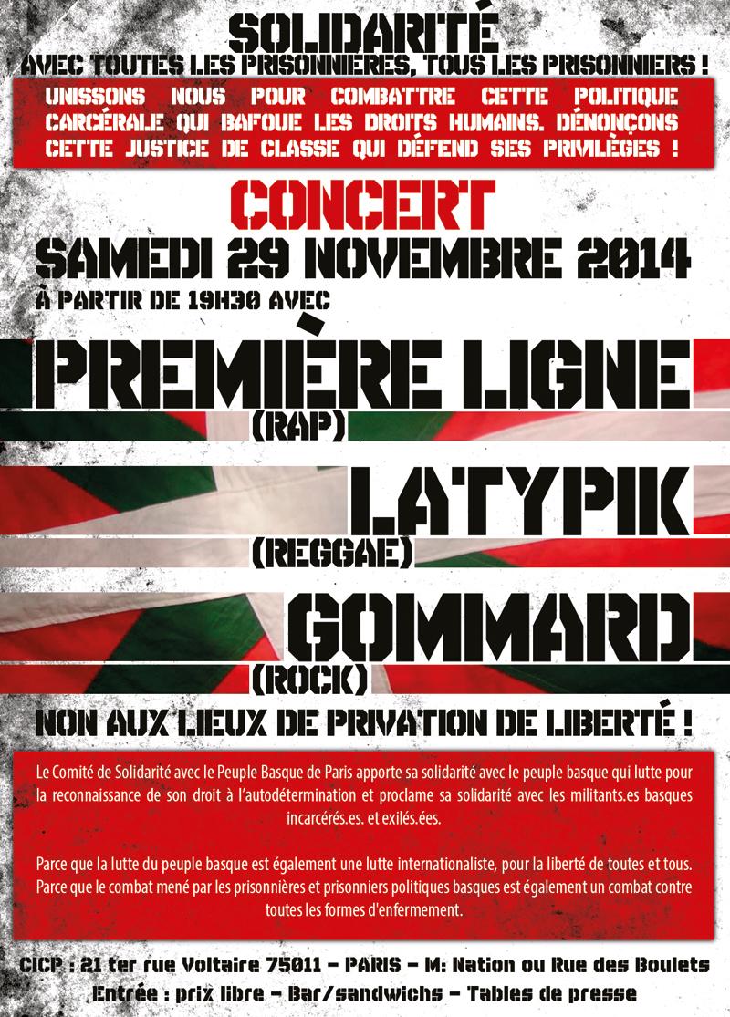 Concert à Paris le 29 novembre 2014