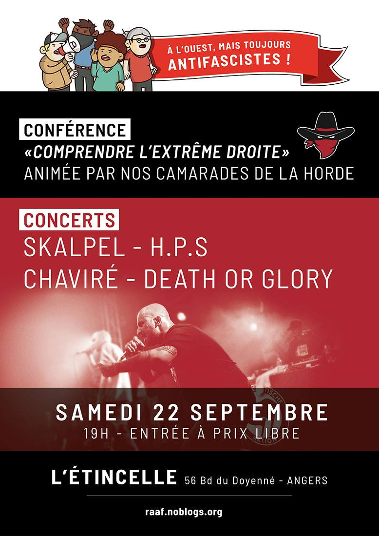 Concert à Angers le 22 septembre 2018