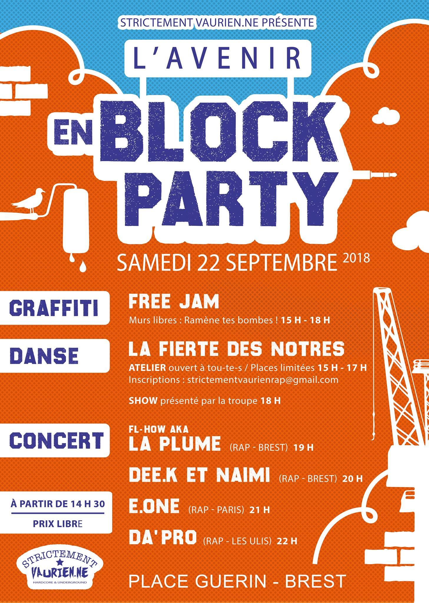 Concert à Brest le 22 septembre 2018