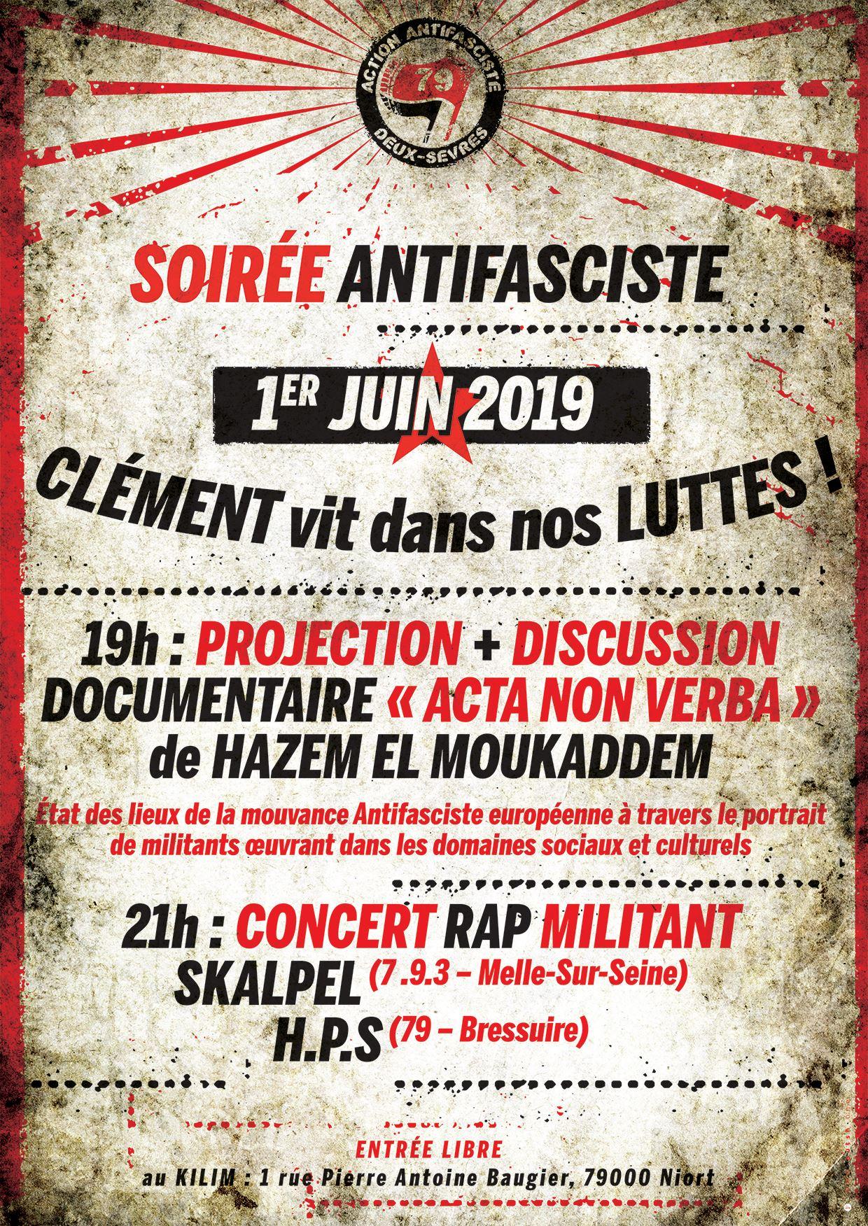 Concert à Niort le 1er juin 2019