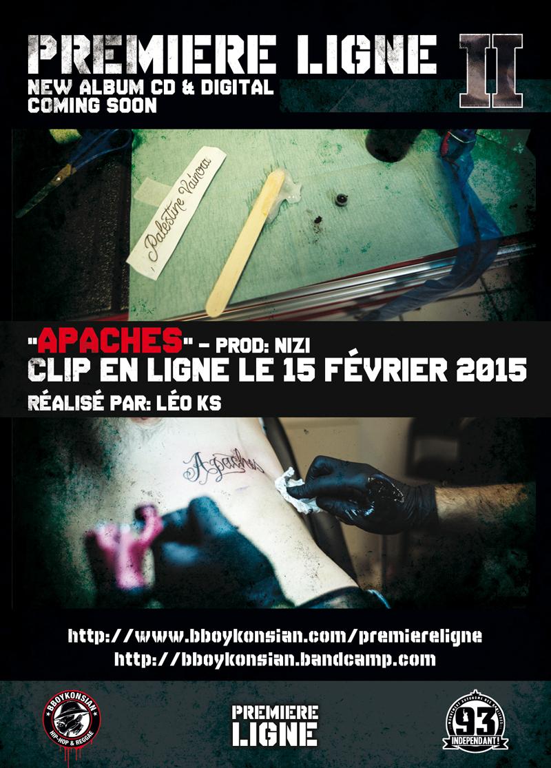 """Le clip """"Apaches"""" en ligne le 15 février 2015"""